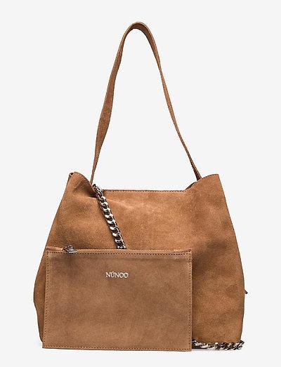 Chiara New Suede - shoppingväskor - camel