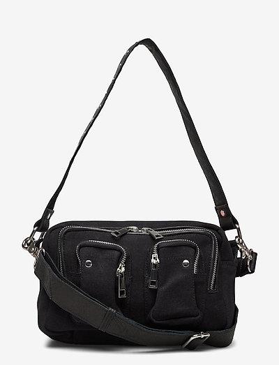 Ellie Recycled Canvas - shoulder bags - black