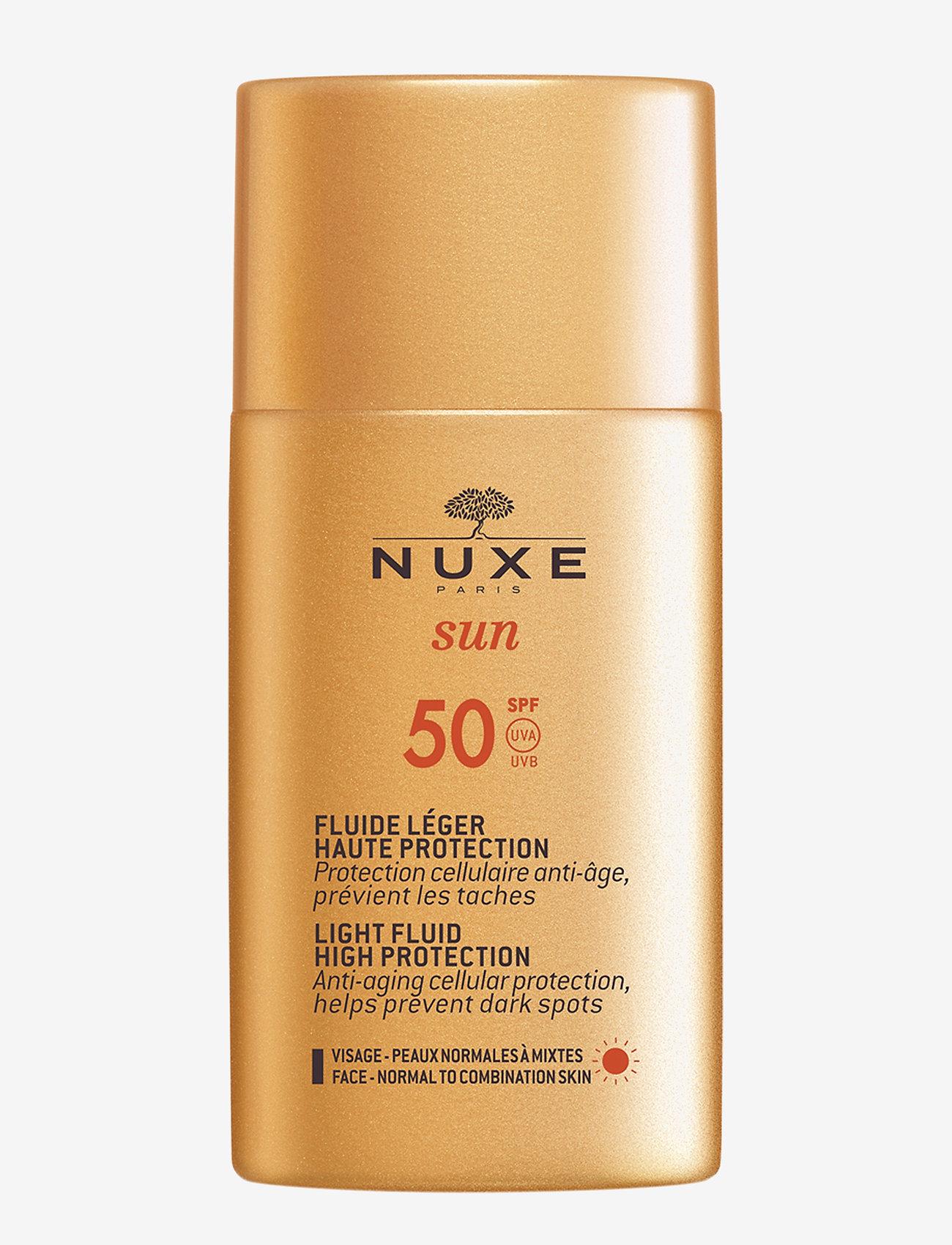 NUXE - NUXE SUN LIGHT FLUID HIGH PROTECTION SPF 50 - ansikt - clear - 0
