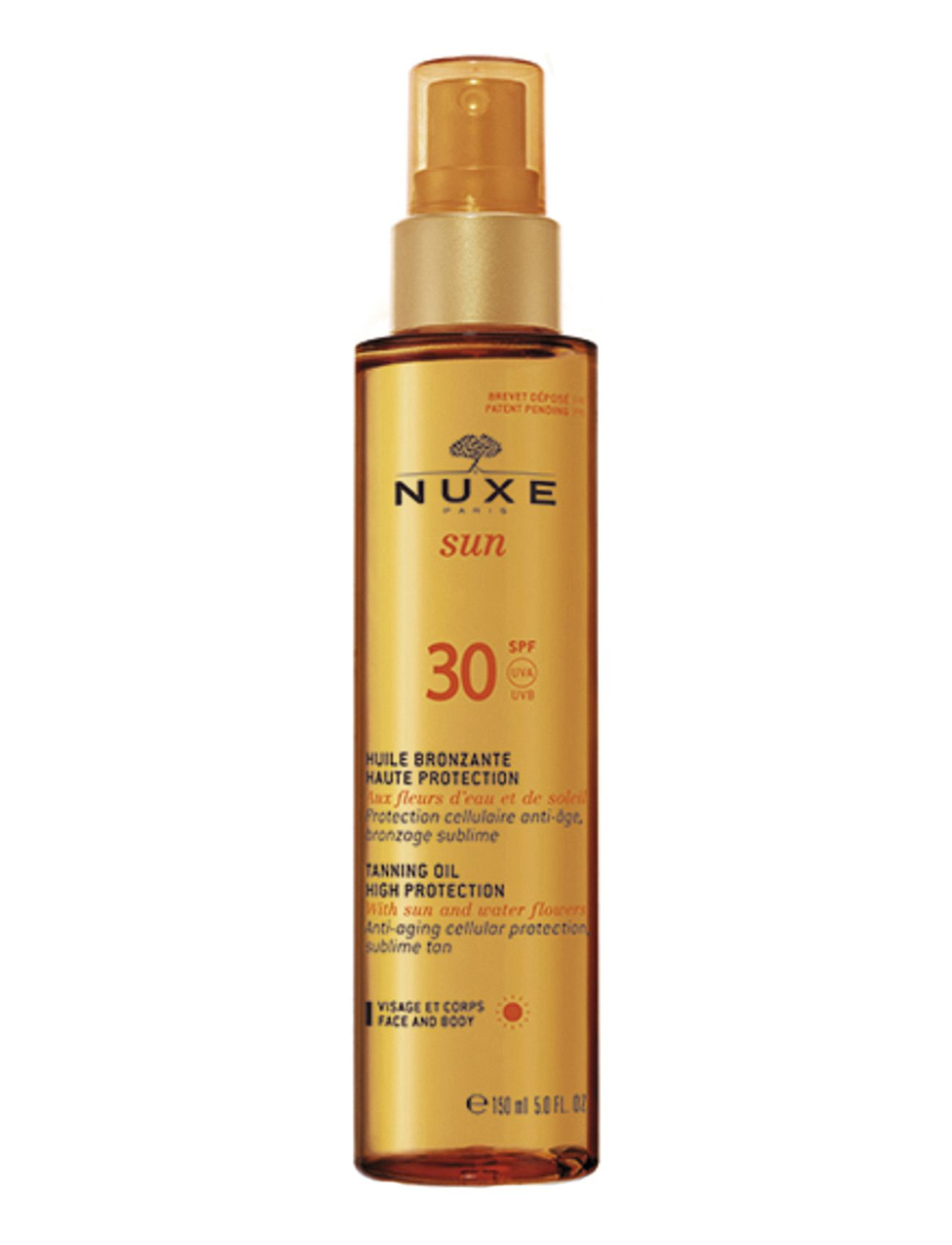Image of Tanning Oil Face & Body Spf30 Beauty MEN Skin Care Sun Products Face Nude NUXE (3232944721)