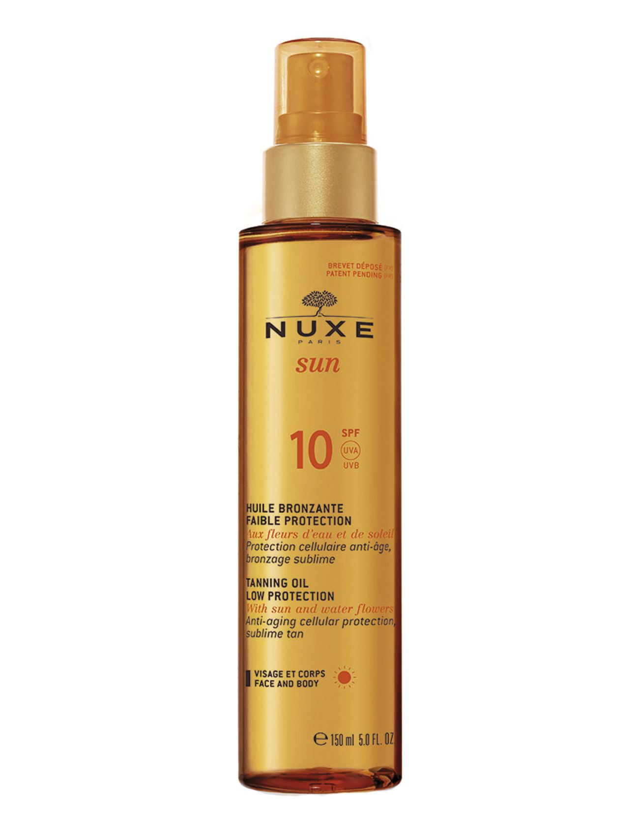 Image of Tanning Oil Face & Body Spf10 Beauty MEN Skin Care Sun Products Face Nude NUXE (3044949611)
