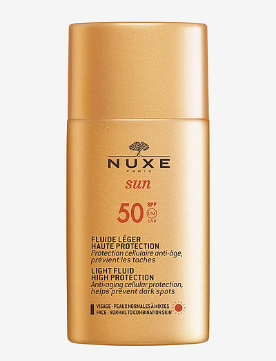 NUXE SUN LIGHT FLUID HIGH PROTECTION SPF 50 - kasvot - clear