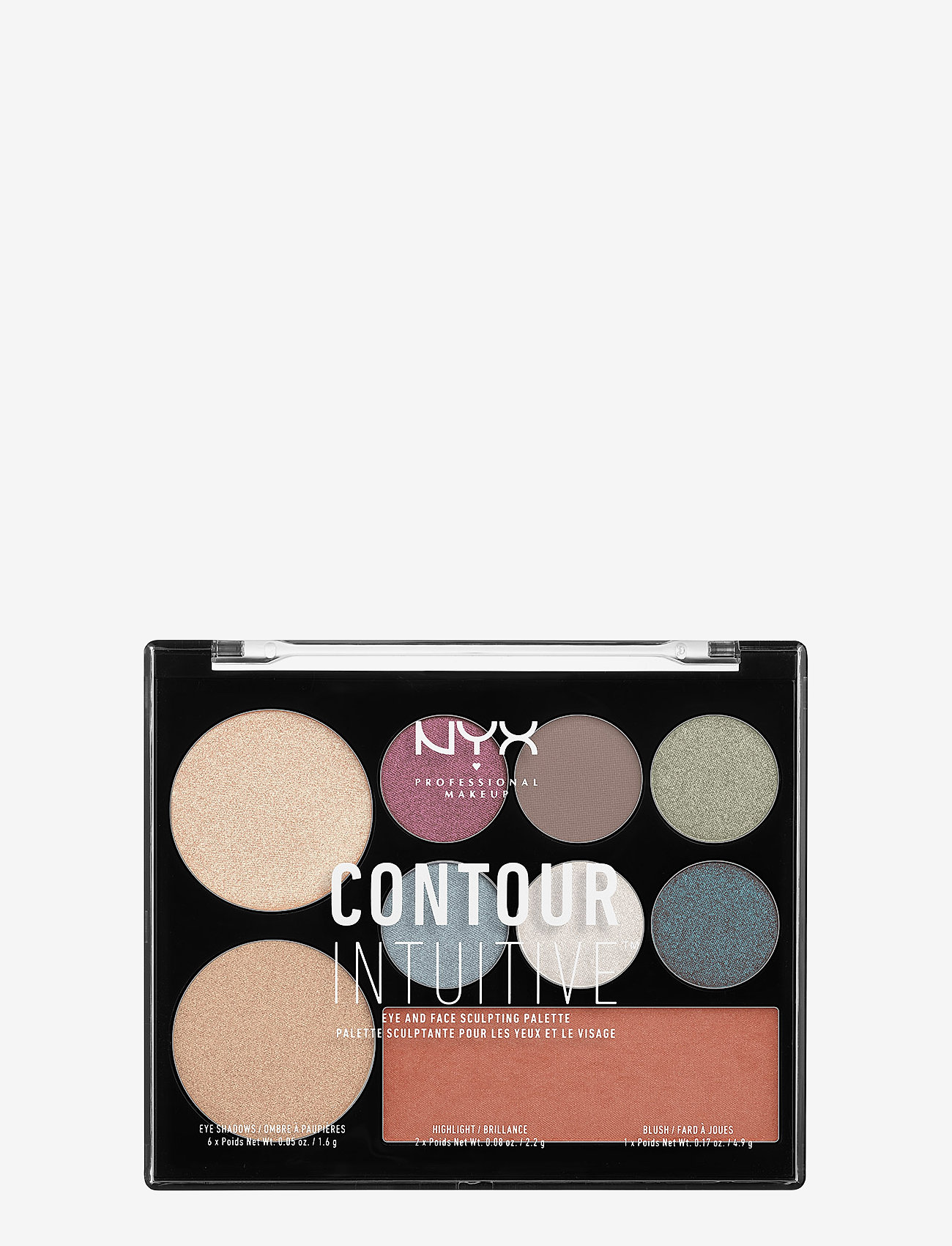 NYX PROFESSIONAL MAKEUP - CONTOUR INTUITIVE™ PALETTE (EYE SCULTPING SHADOW PALETTE/S - Øjenskyggepalet - shade 03 - 0