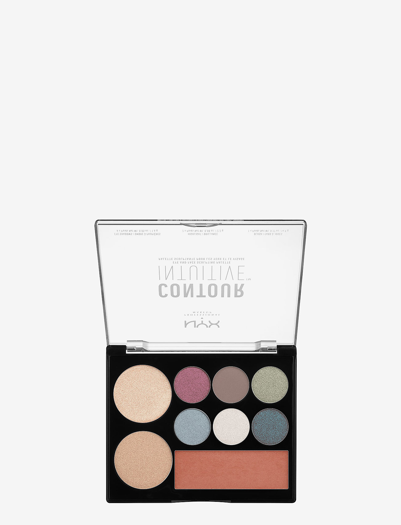 NYX PROFESSIONAL MAKEUP - CONTOUR INTUITIVE™ PALETTE (EYE SCULTPING SHADOW PALETTE/S - Øjenskyggepalet - shade 03 - 1