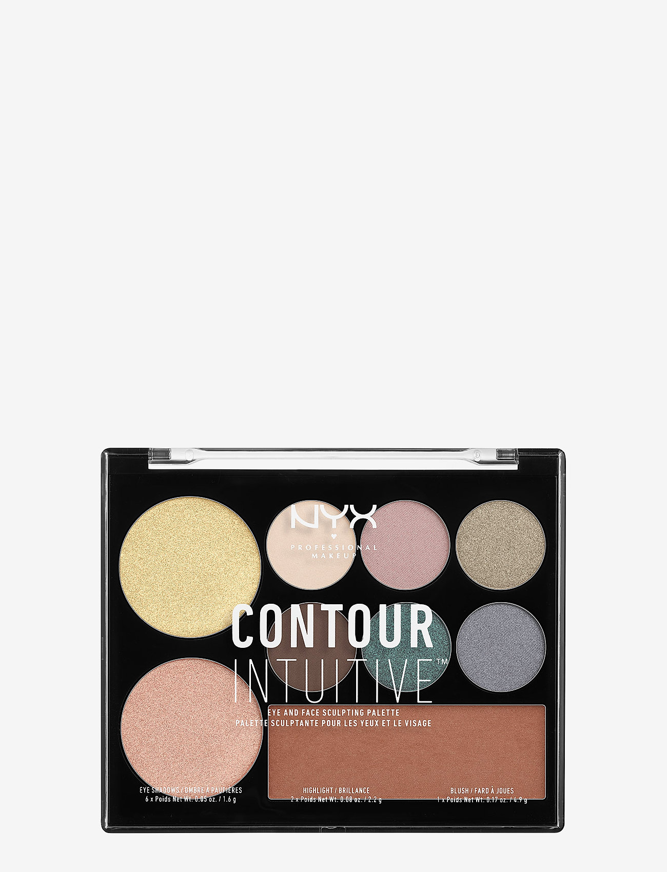 NYX PROFESSIONAL MAKEUP - CONTOUR INTUITIVE™ PALETTE (EYE SCULTPING SHADOW PALETTE/S - Øjenskyggepalet - shade 05 - 0