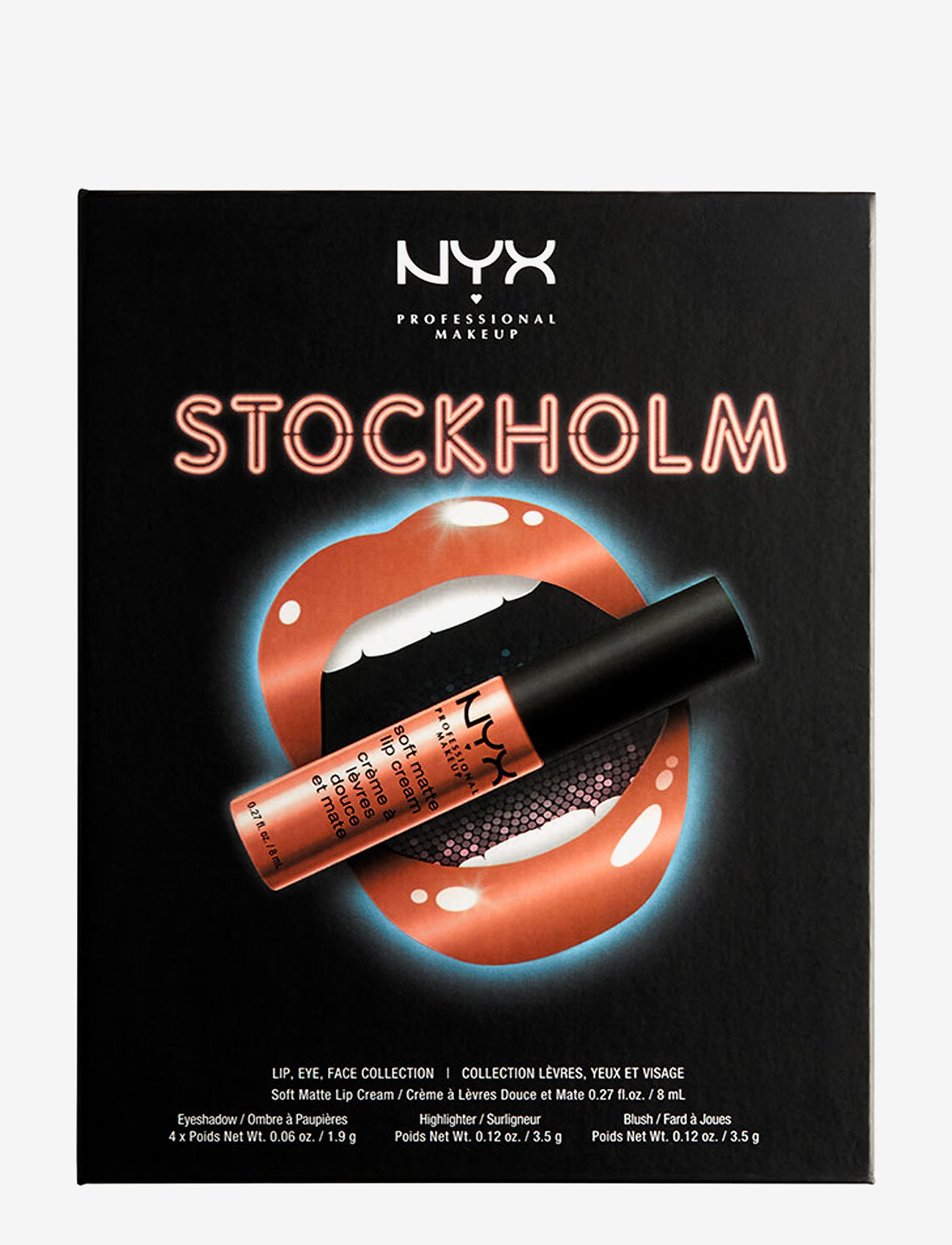NYX PROFESSIONAL MAKEUP - City Set Lip, Eye & Face Palette - luomiväripaletti - stockholm