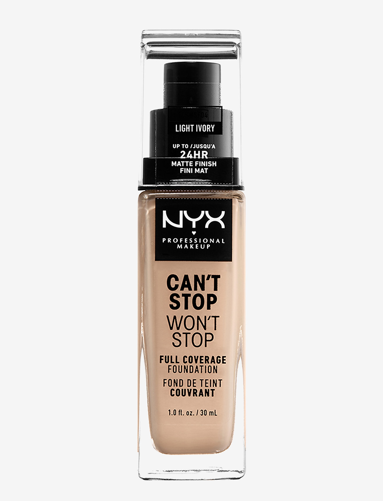 NYX PROFESSIONAL MAKEUP - Can't Stop Won't Stop Foundation - meikkivoide - light ivory