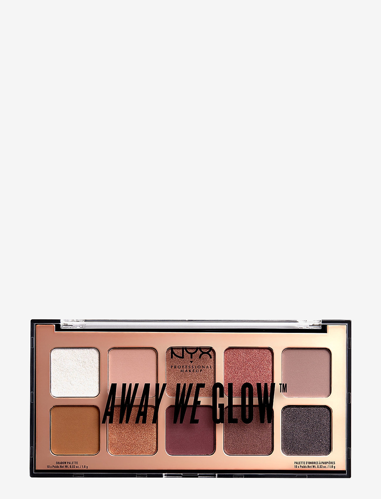 NYX PROFESSIONAL MAKEUP - Away We glow Shadow Palette - Ögonskuggspalett - 01 love beam - 1