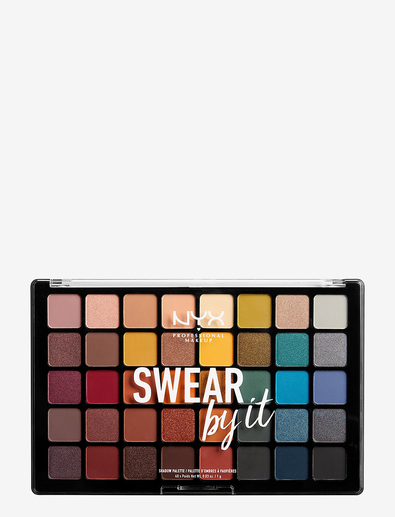 NYX PROFESSIONAL MAKEUP - Swear By It Shadow Palette - luomiväripaletti - no colour