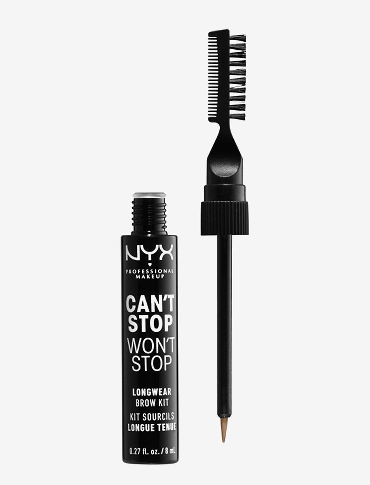 NYX PROFESSIONAL MAKEUP - Can't Stop Won't Stop Longwear Brow Ink Kit - Øjenbrynsgel - taupe - 0
