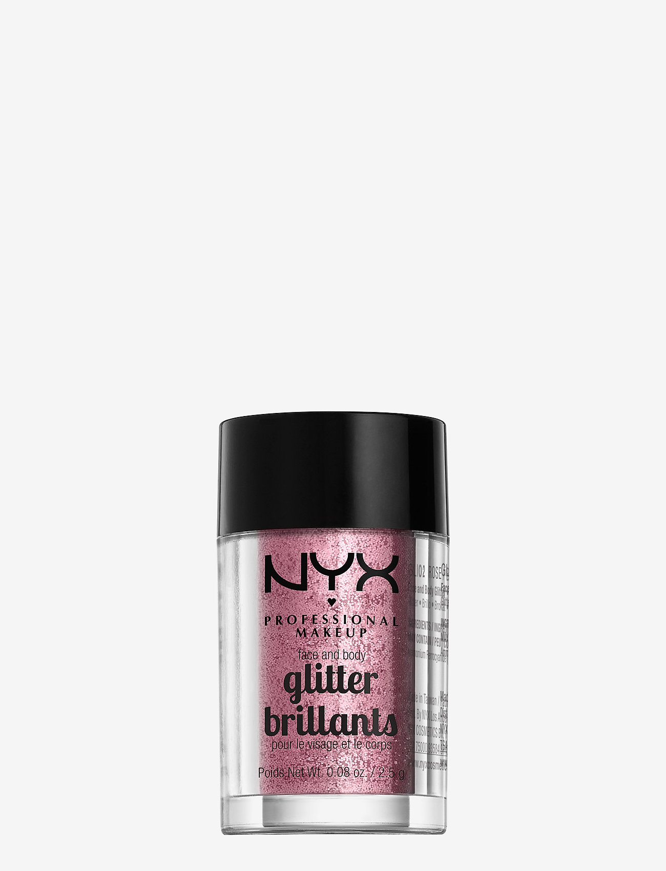NYX PROFESSIONAL MAKEUP - FACE & BODY GLITTER - ansigt - rose - 0