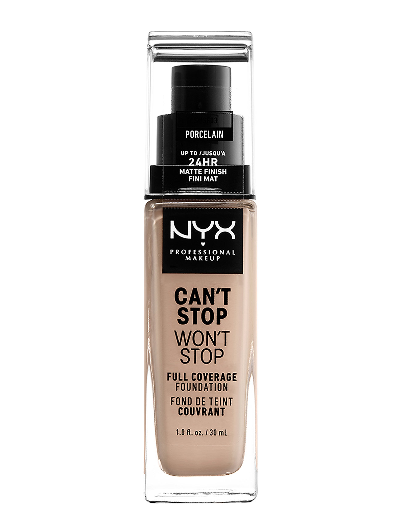 NYX PROFESSIONAL MAKEUP CAN'T STOP WON'T STOP 24-HOURS FOUNDATION - PORCELAIN