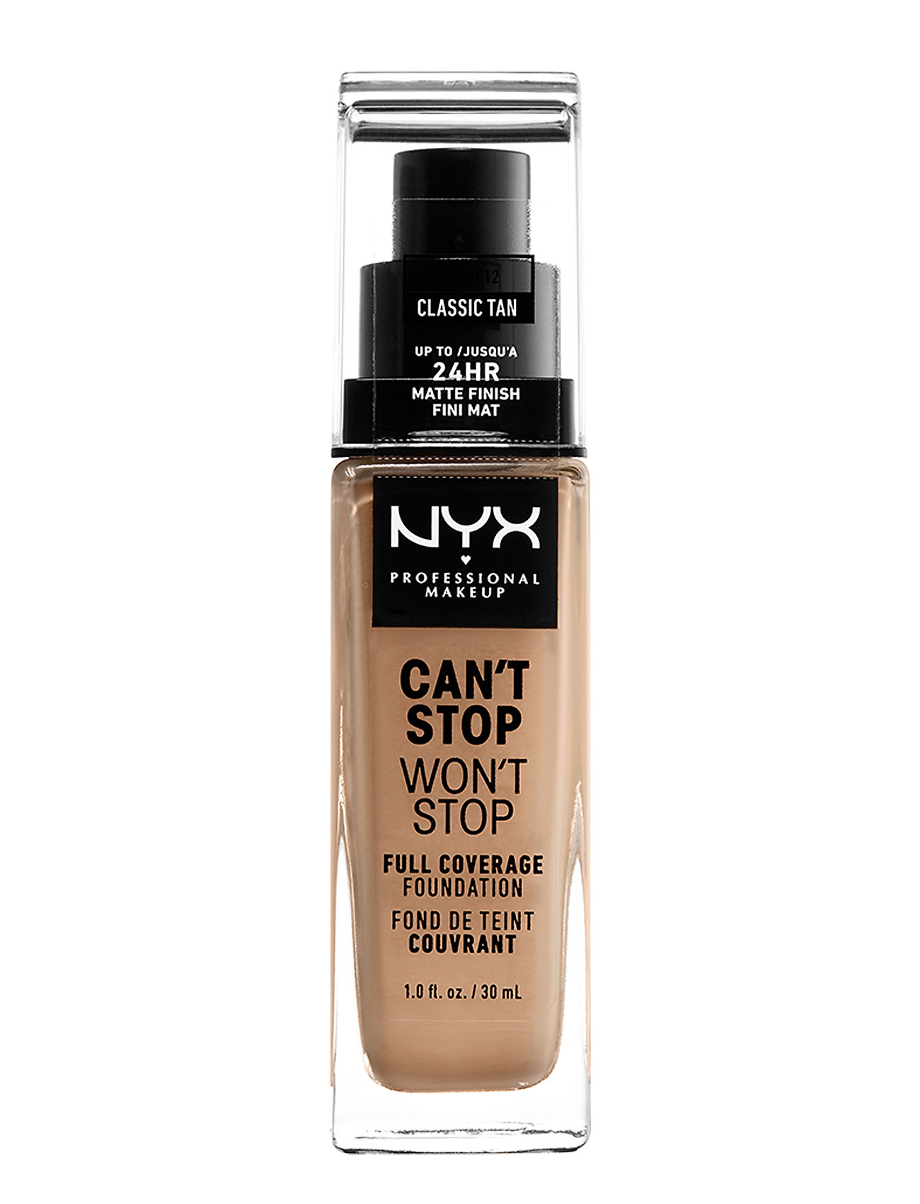 NYX PROFESSIONAL MAKEUP CAN'T STOP WON'T STOP 24-HOURS FOUNDATION