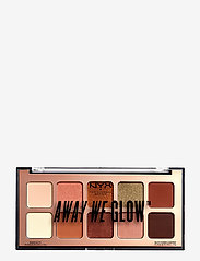 NYX PROFESSIONAL MAKEUP - Away We glow Shadow Palette - Ögonskuggspalett - 02 hooked on glow - 1