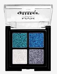 NYX PROFESSIONAL MAKEUP - Glitter Goals Cream Quad Palette Glacier - Ögonskuggspalett - glacier - 0