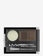 NYX PROFESSIONAL MAKEUP - EYEBROW CAKE POWDER - Øyebrynsskygge - dark brown/ brown - 0