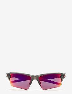 Oakley Sunglasses - d-shaped - matte grey smoke