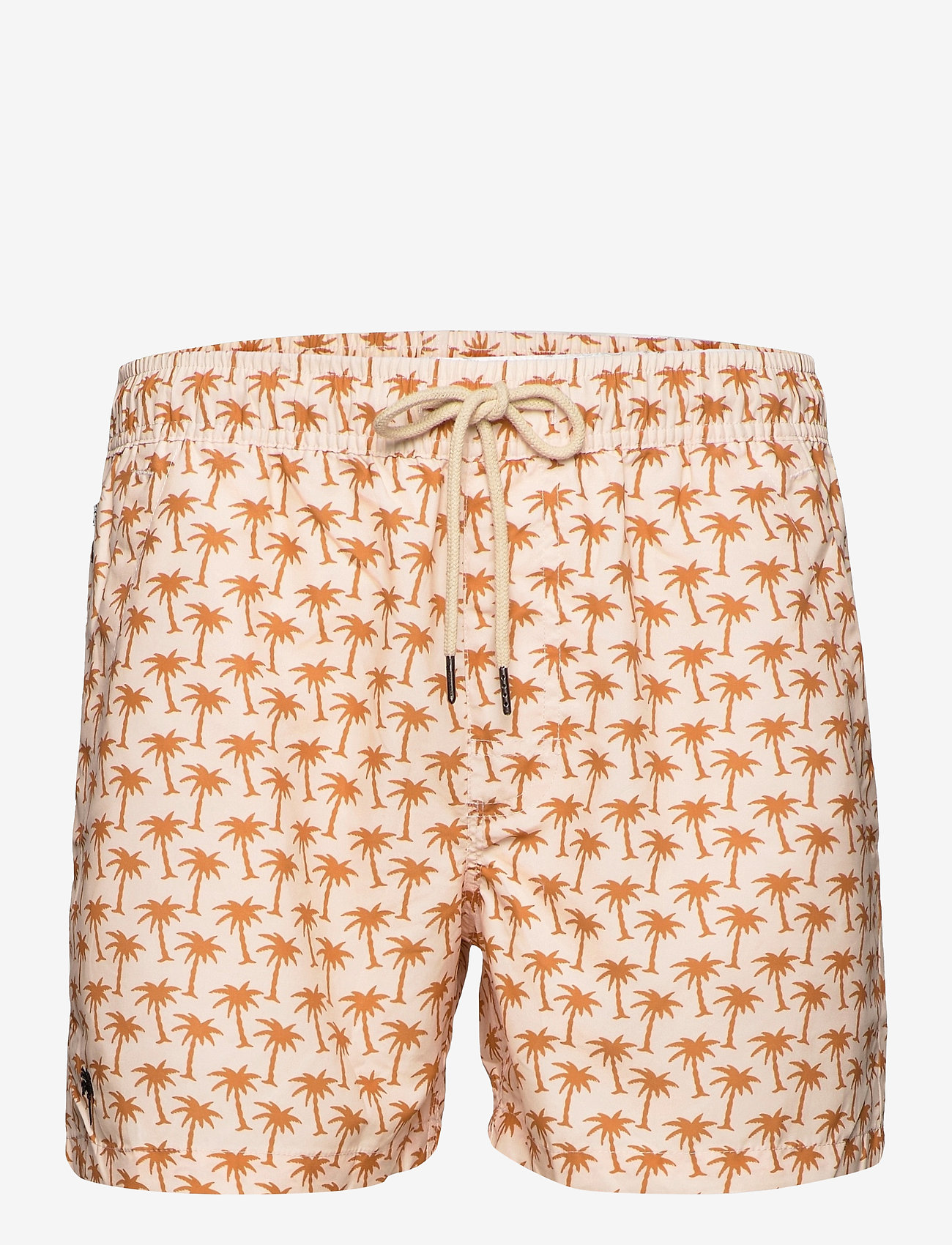 OAS - Beige Palm Swim Shorts - shorts - beige - 0