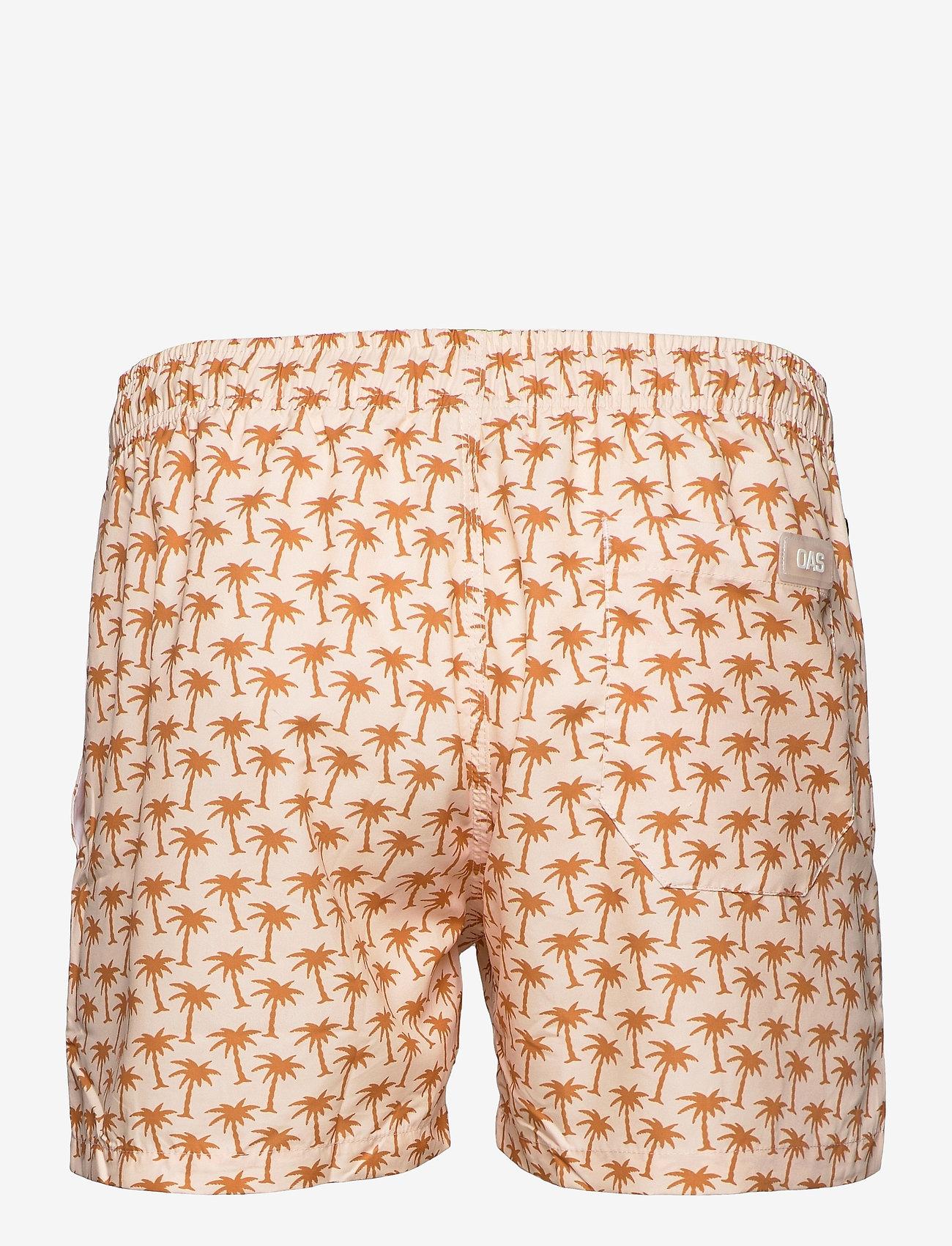 OAS - Beige Palm Swim Shorts - shorts - beige - 1