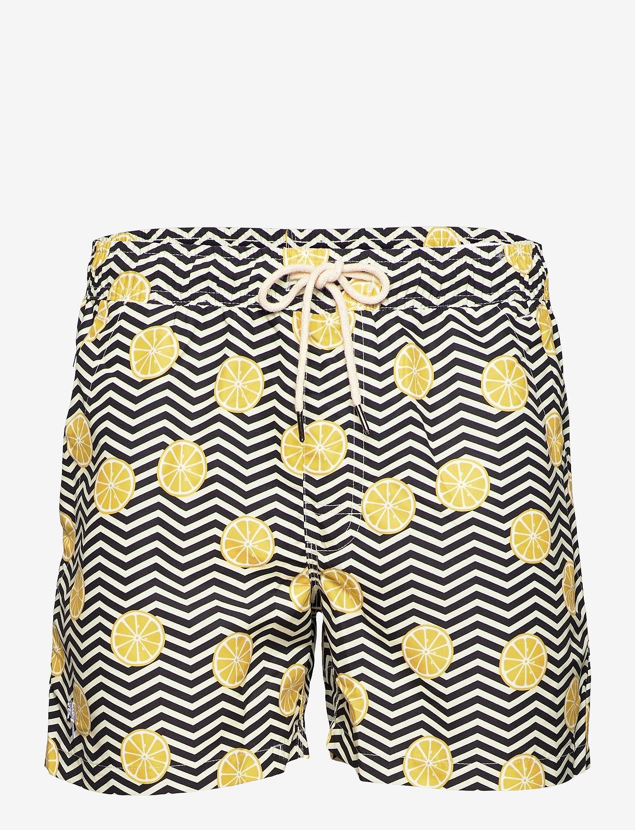OAS - Black Lemon Swim Shorts - shorts - black - 0