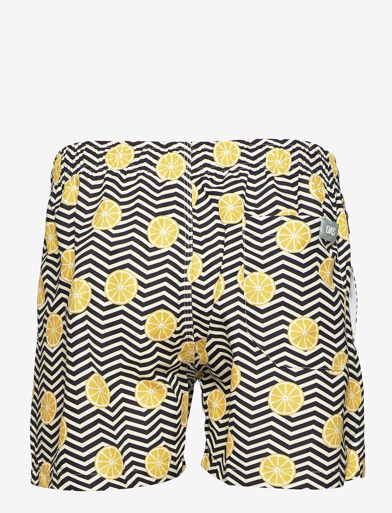 OAS - Black Lemon Swim Shorts - shorts - black - 1