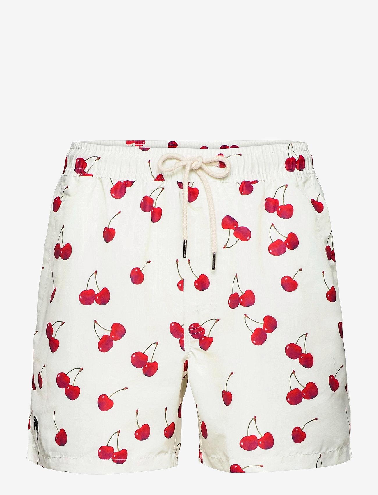 OAS - Cherry Swim Shorts - shorts - red - 0