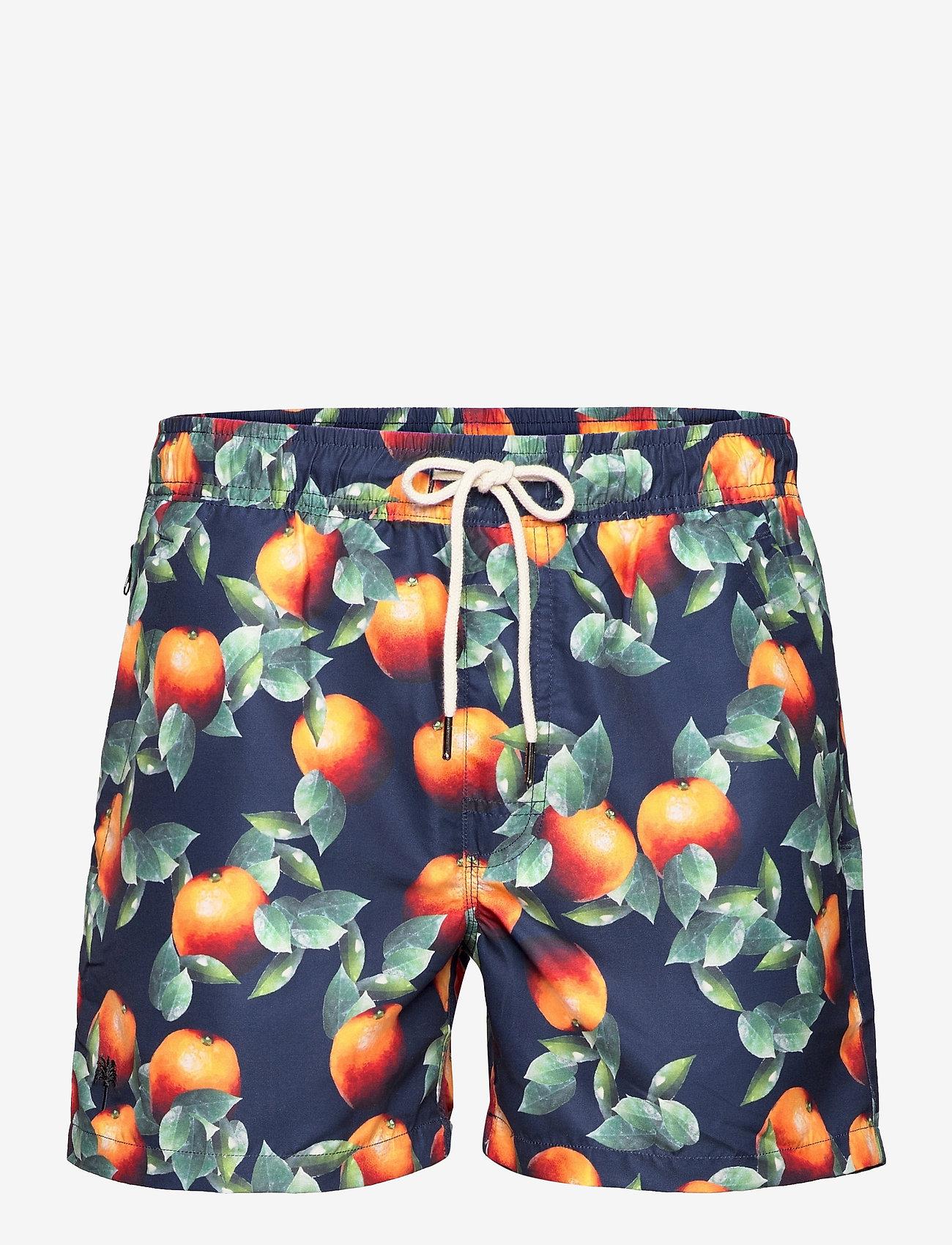 OAS - Dark Orange Swim Shorts - shorts - blue - 0