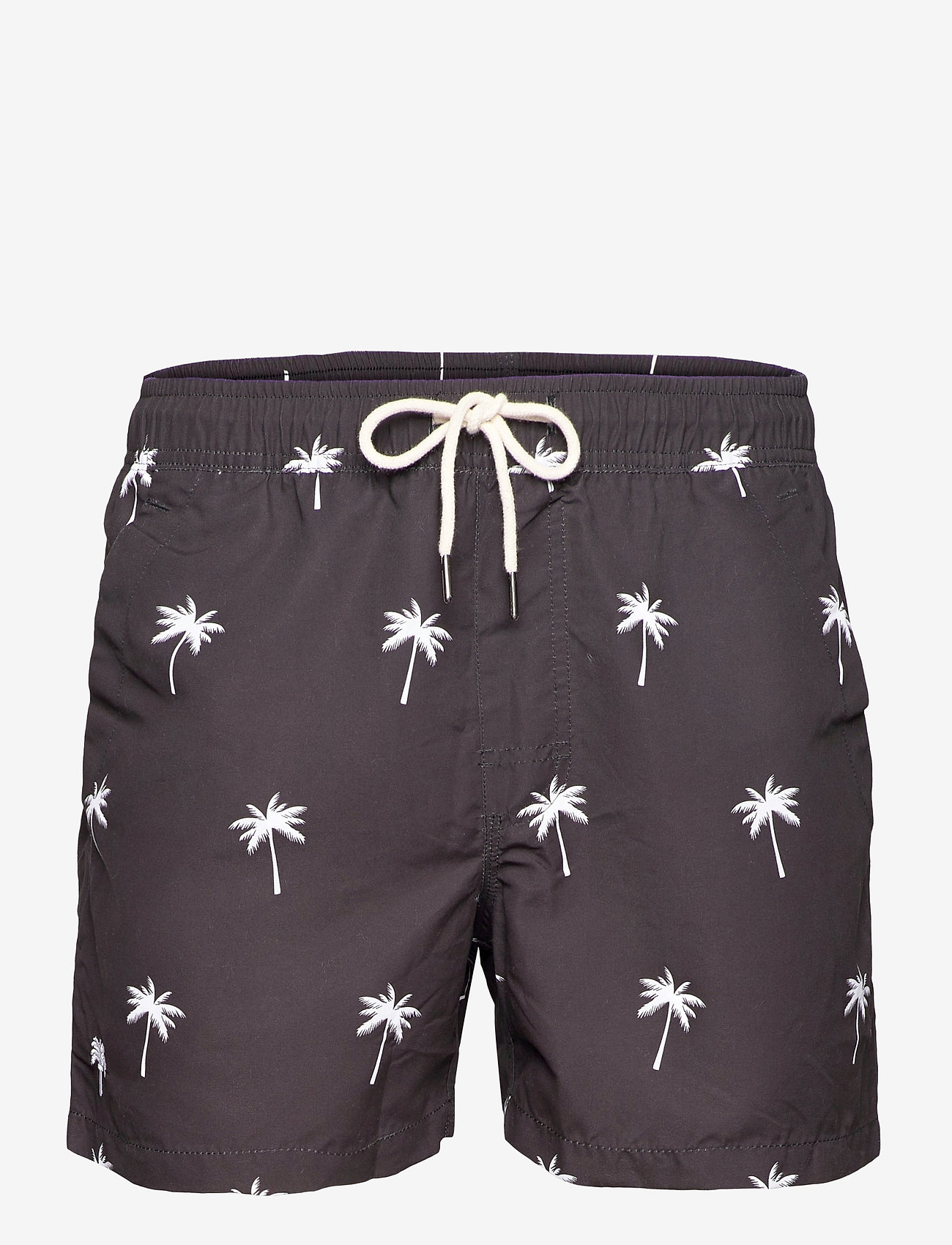 OAS - Black Palm Swim Shorts - shorts - black - 0