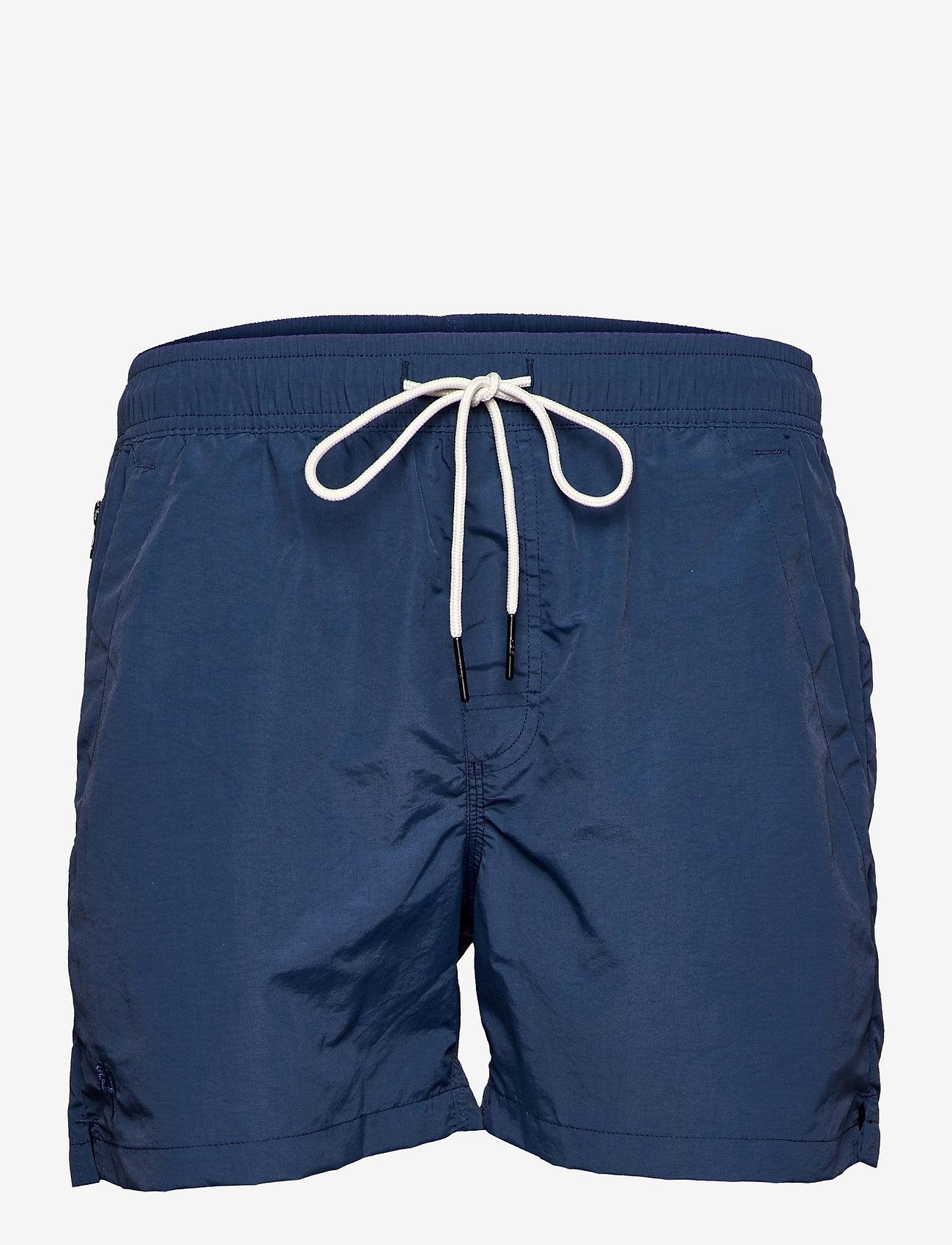 OAS - Navy Nylon Swim Shorts - shorts - blue - 0