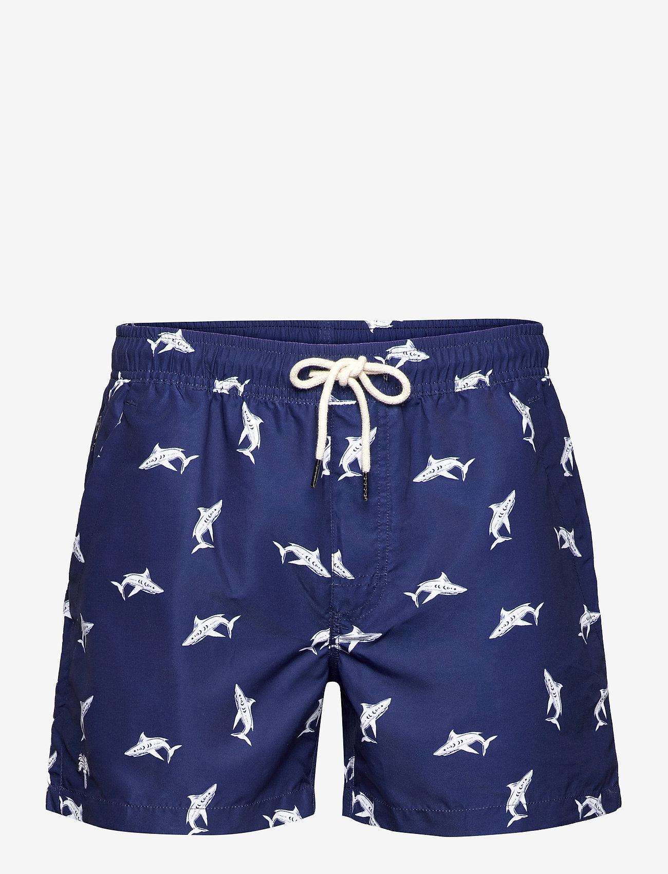 OAS - Shark Swim shorts - shorts - blue - 0