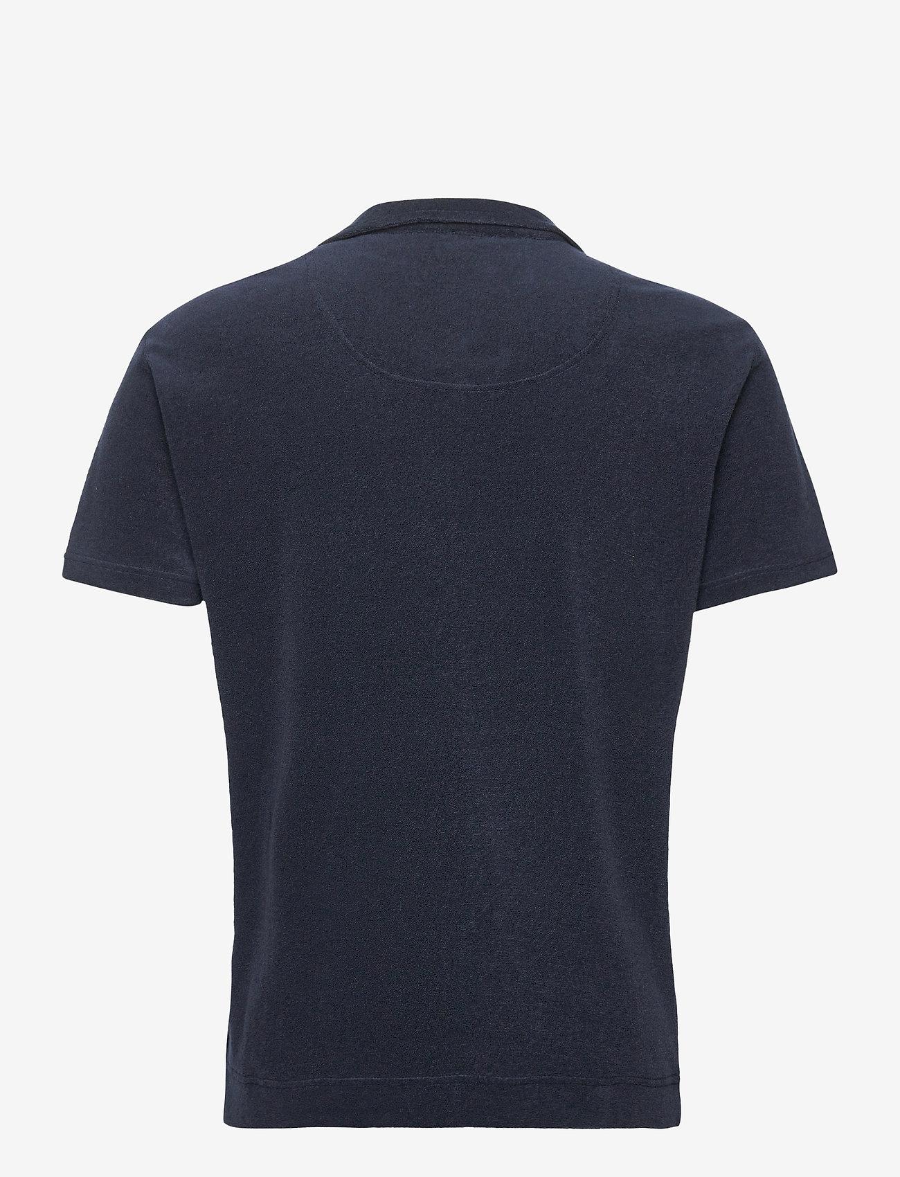 OAS - Solid Navy Terry Shirt - korte mouwen - blue - 1