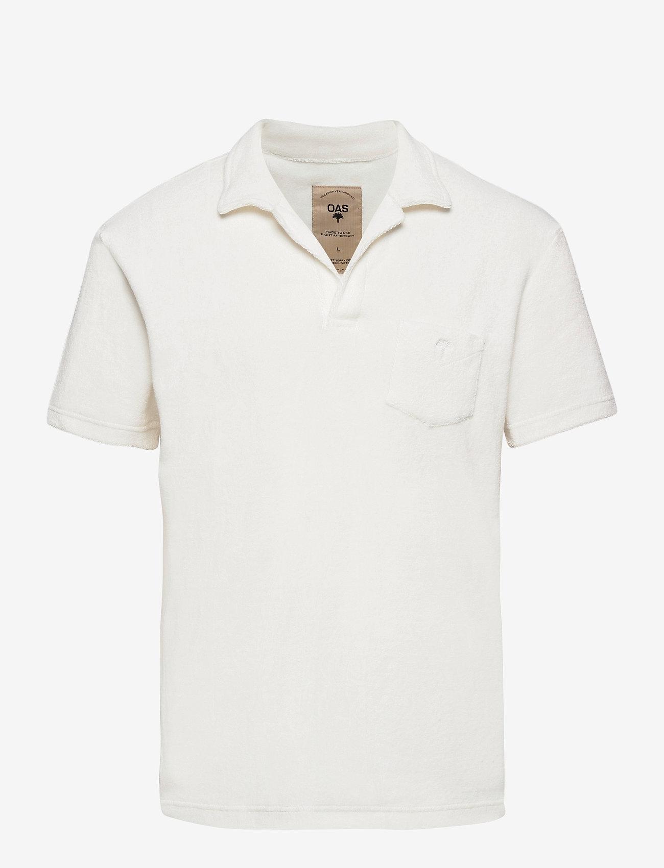 OAS - Solid White Terry Shirt - korte mouwen - white - 0