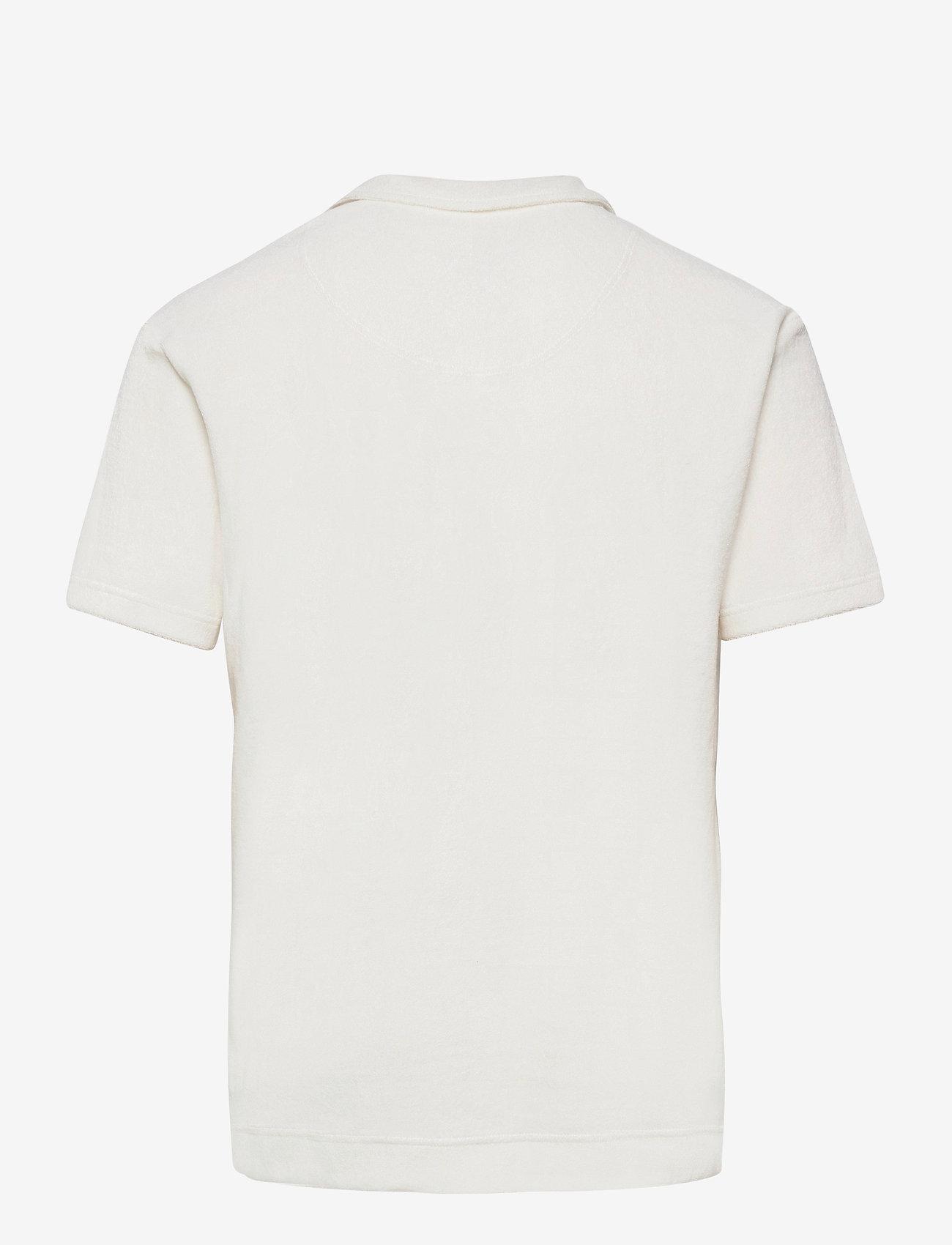 OAS - Solid White Terry Shirt - korte mouwen - white - 1