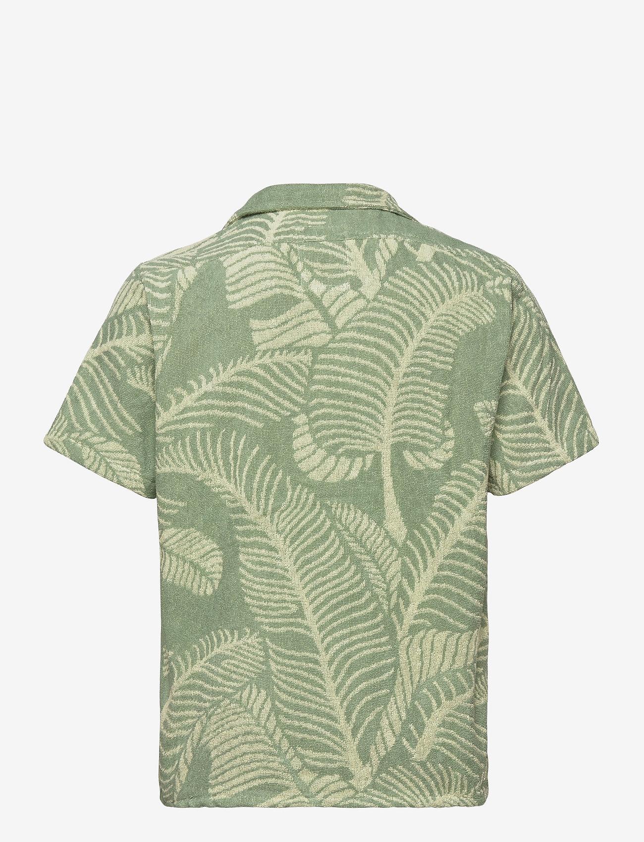 OAS - Banana Leaf Terry Shirt - green - 1