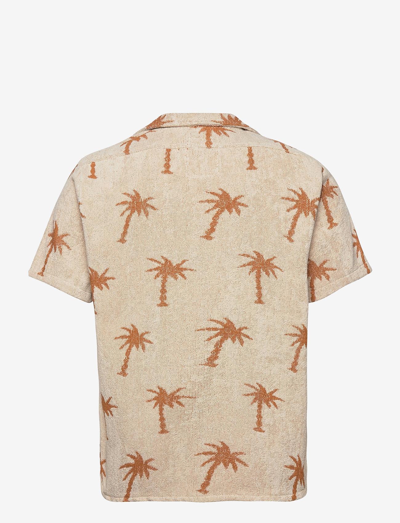 OAS - Palmy Terry Shirt - overhemden korte mouwen - beige - 1