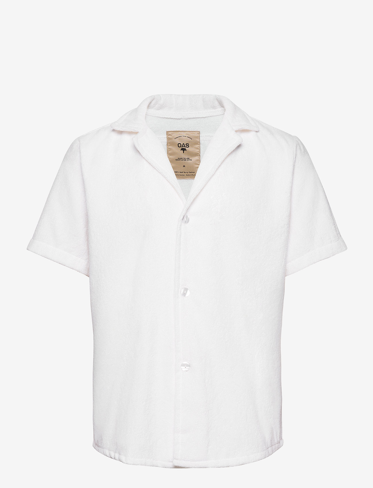 OAS - White Cuba Terry Shirt - overhemden korte mouwen - white - 0