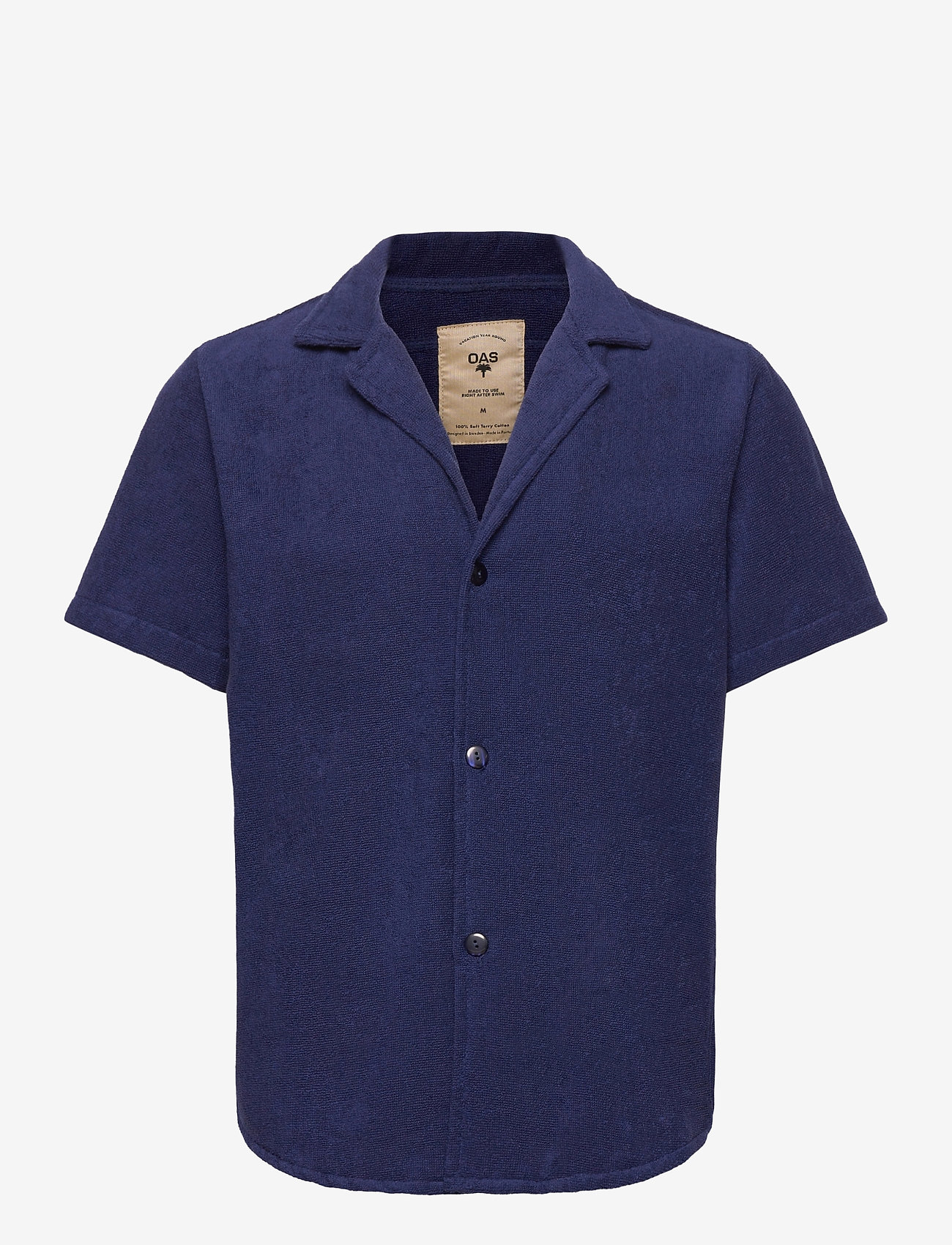 OAS - Navy Cuba Terry Shirt - overhemden korte mouwen - blue - 0