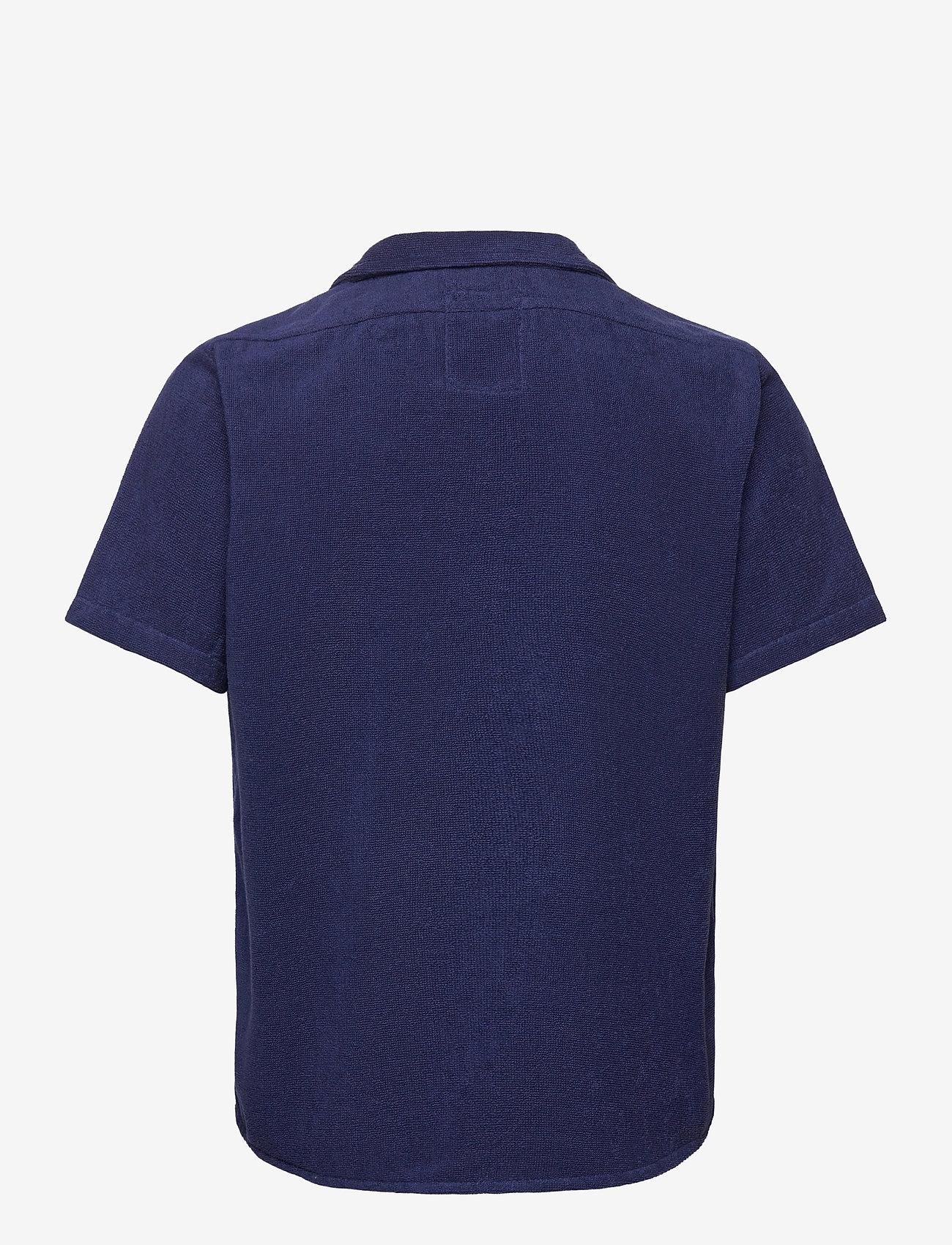 OAS - Navy Cuba Terry Shirt - overhemden korte mouwen - blue - 1