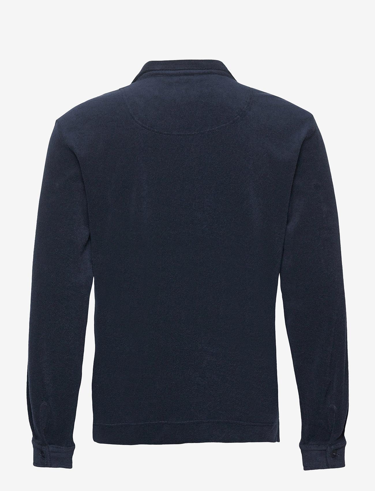 OAS - Navy Terry Camisa - casual overhemden - blue - 1