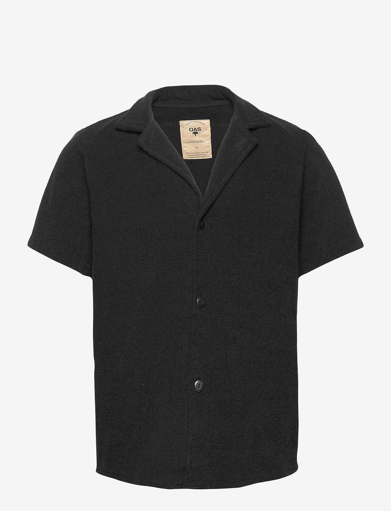 OAS - Black Cuba Terry Shirt - overhemden korte mouwen - black - 0