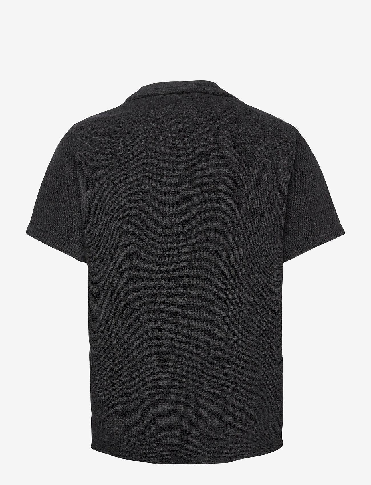 OAS - Black Cuba Terry Shirt - overhemden korte mouwen - black - 1