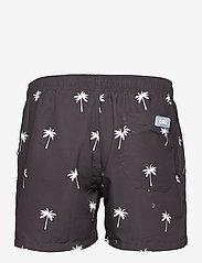 OAS - Black Palm Swim Shorts - shorts - black - 1