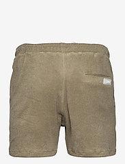 OAS - Khaki Terry Shorts - casual shorts - green - 1