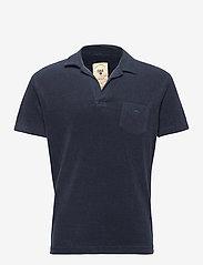 OAS - Solid Navy Terry Shirt - korte mouwen - blue - 0