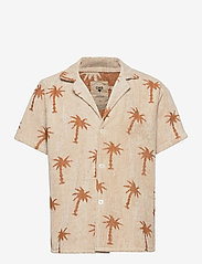 OAS - Palmy Terry Shirt - overhemden korte mouwen - beige - 0