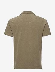 OAS - Solid Khaki Terry Shirt - korte mouwen - khaki - 1