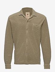 OAS - Khaki Terry Camisa - casual overhemden - green - 0