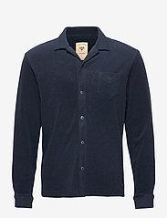 OAS - Navy Terry Camisa - casual overhemden - blue - 0