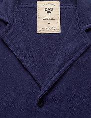 OAS - Navy Cuba Terry Shirt - overhemden korte mouwen - blue - 2
