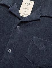 OAS - Navy Terry Camisa - casual overhemden - blue - 3